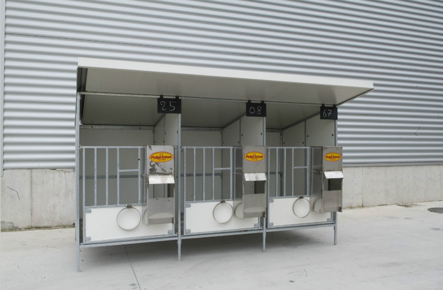 Calf Boxes Metallic Structures And Livestock Equipment